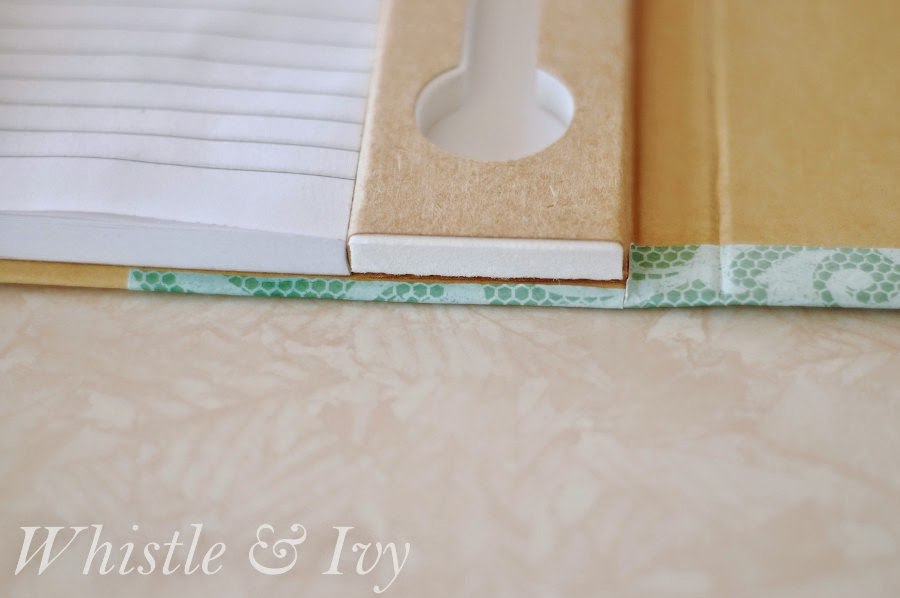 Paper-Covered Notebooks - Turn a drab paper notebook into a fabulous personalized accessory!