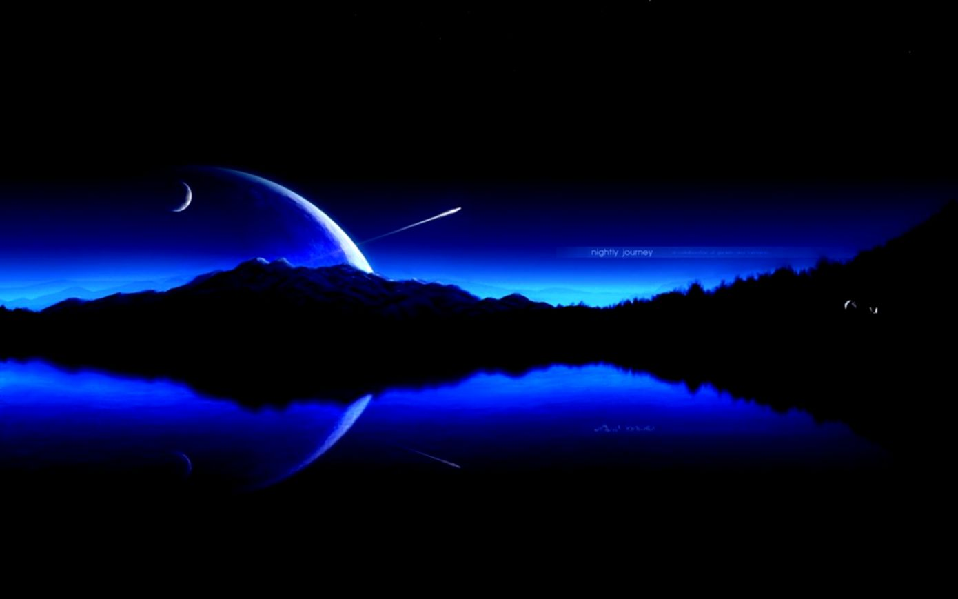 Space Digital Universe Blue Planets Hd Wallpaper  Wallpaper Gallery