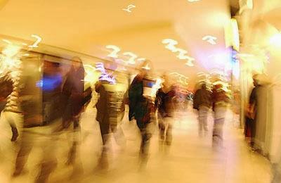 shopping mall people walking