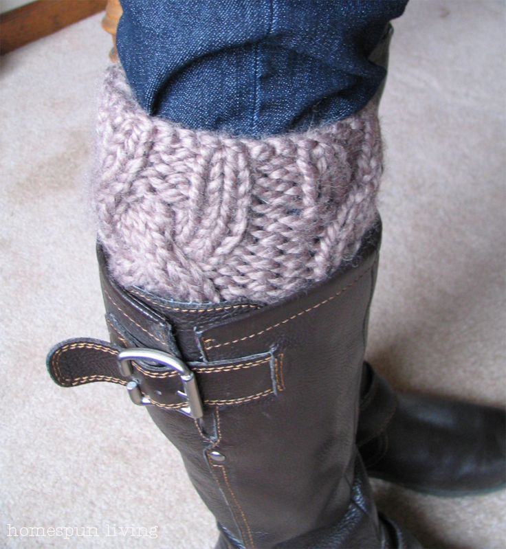 Knitted Boot Cuff Free Patterns : homespun living: a free boot cuff pattern just for You