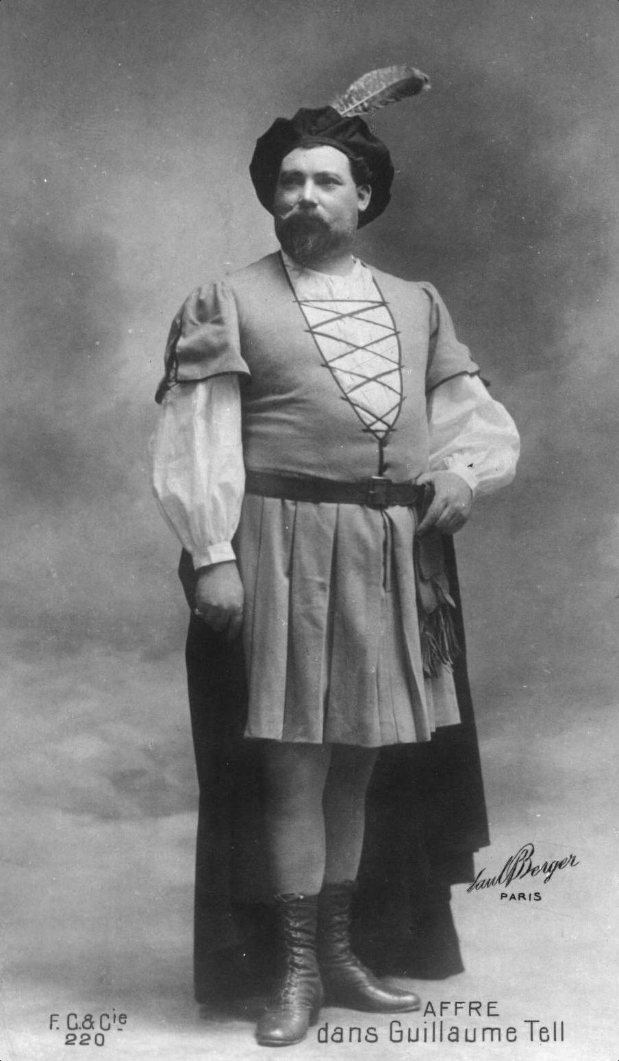 GREAT FRENCH TENOR AGUSTARELLO AFFRE (1858 - 1931) CD