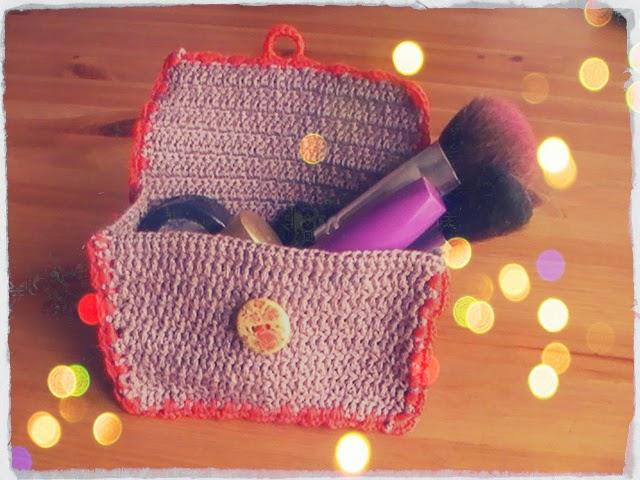 tutorial crochet: precioso neceser para el bolso