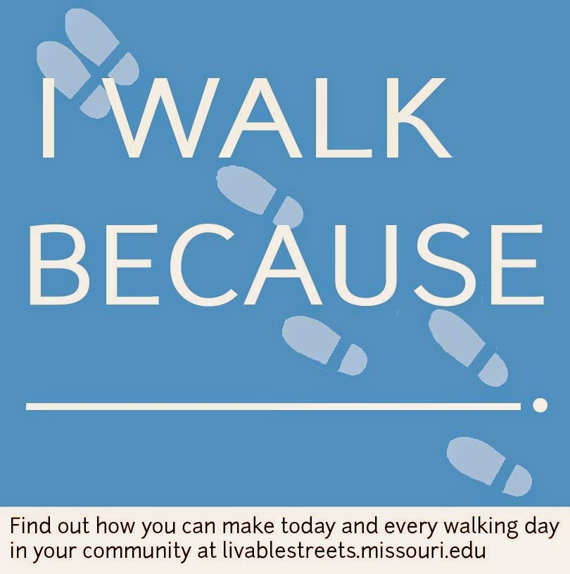 I walk because graphic