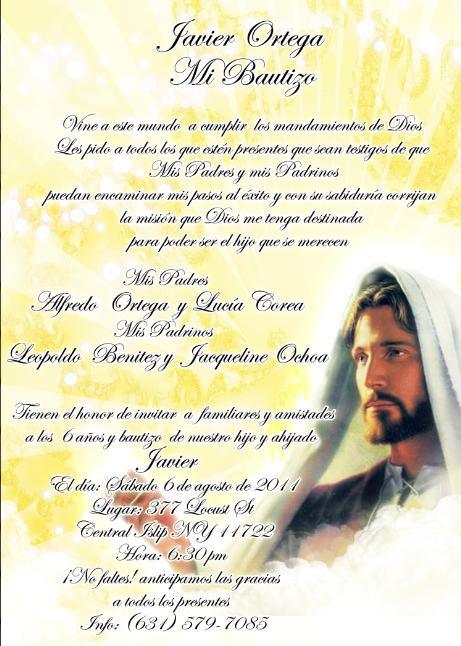 Frases par una invitación de bautizo - Imagui