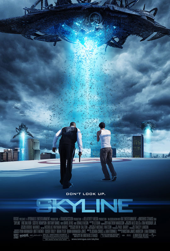 1) Skyline ? Sometimes Redbox sends me codes for free movies.