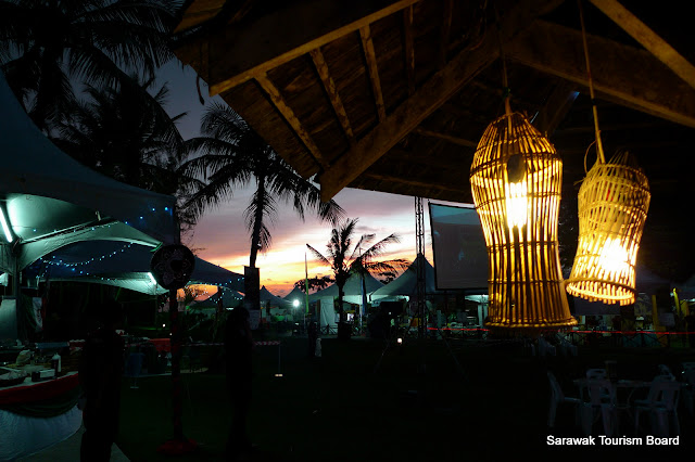 Night scene of Borneo Jazz Festival ground