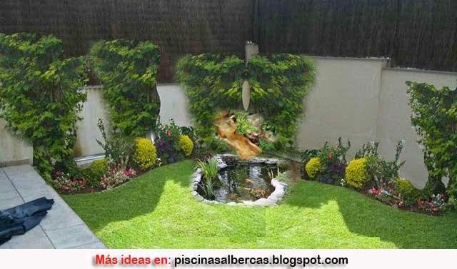 Dise o de jardines peque os terrazas y jardines fotos for Fuentes para jardin pequeno