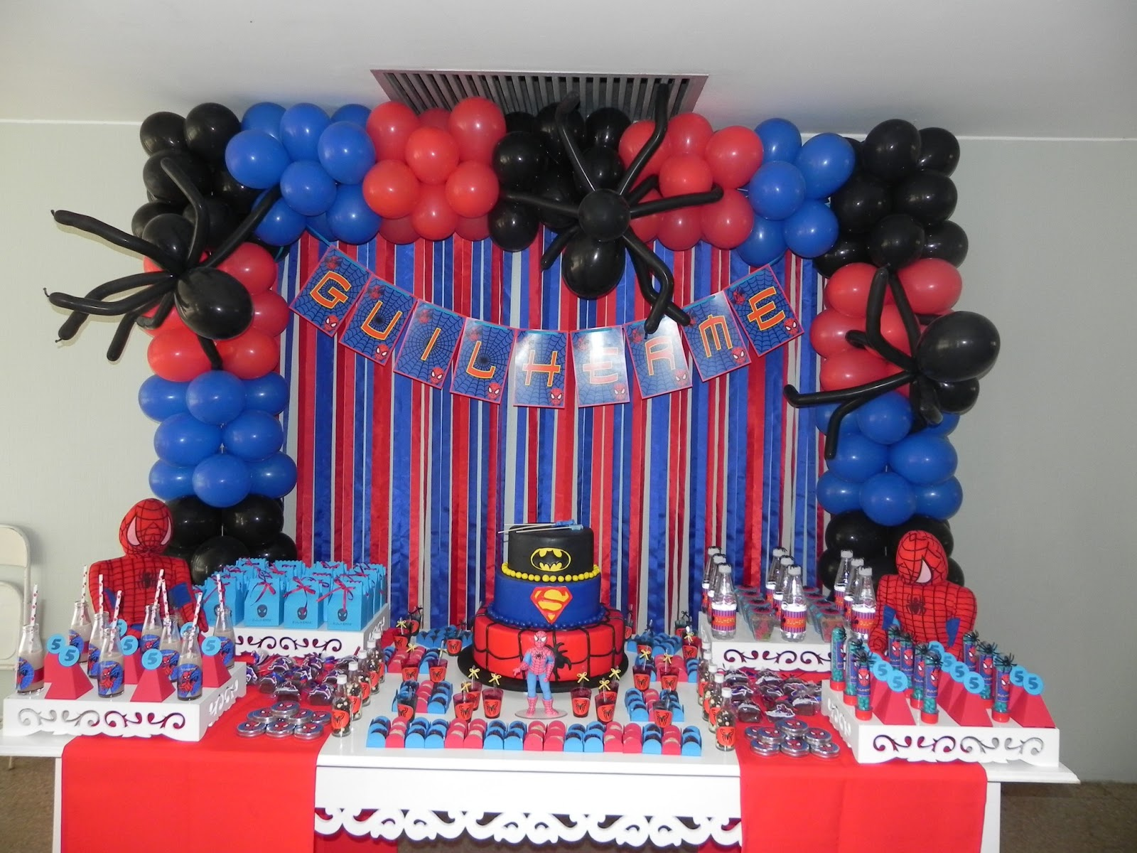 Oficina de Ideias Bsb Festa Homem Aranha -> Decoração De Festa Simples Homem Aranha