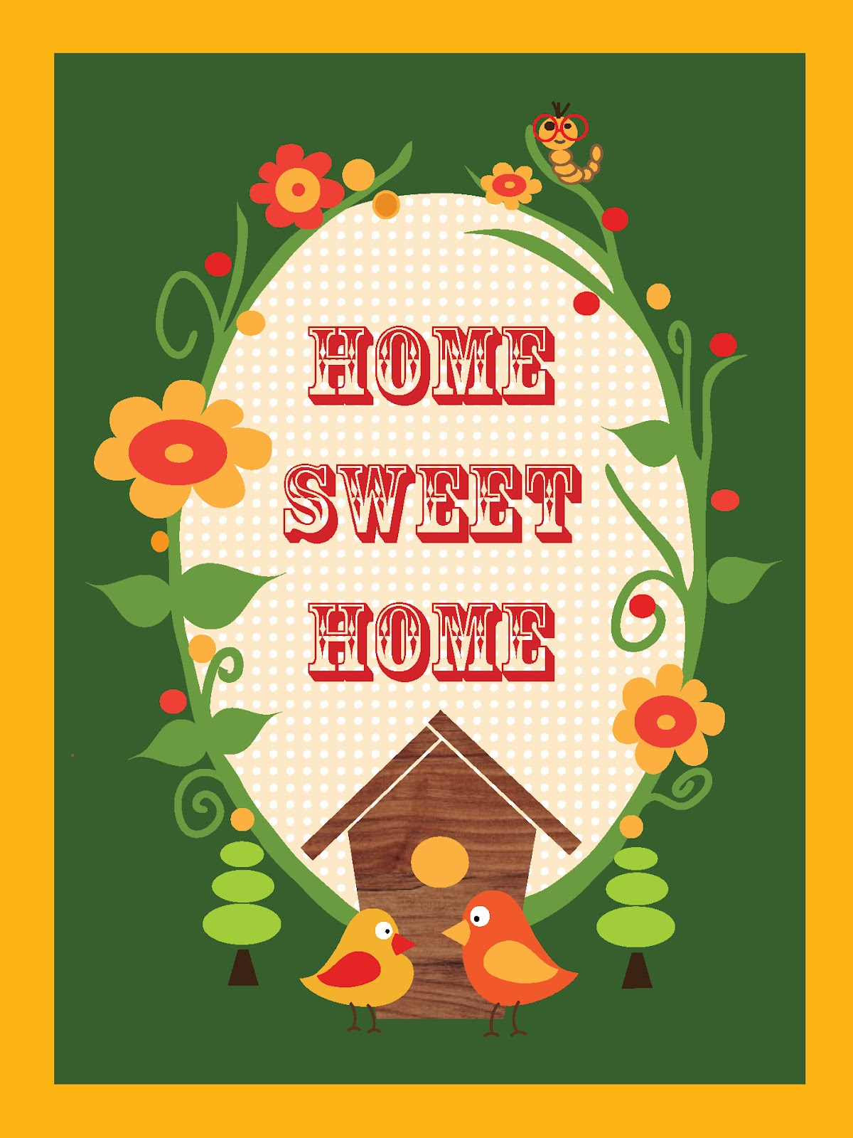 Growing Graphics By Laura Stoner Big Belly Bird Home Sweet Home