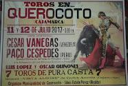 Vanegas, Céspedes, López y Quiñones, anunciados en Querocoto, el 11 y 12/07.