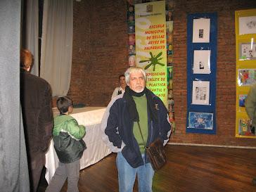 En exposición pictórica Pástica Infantil y Adolescente Escuela de Bellas Artes de Valparaíso.