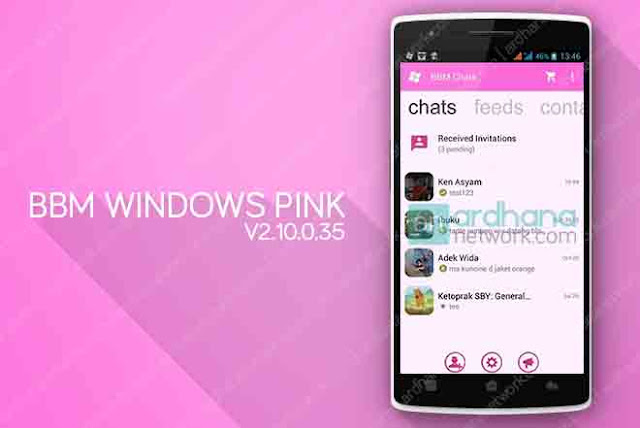 BBM Windows Phone Pink V2.10.0.35