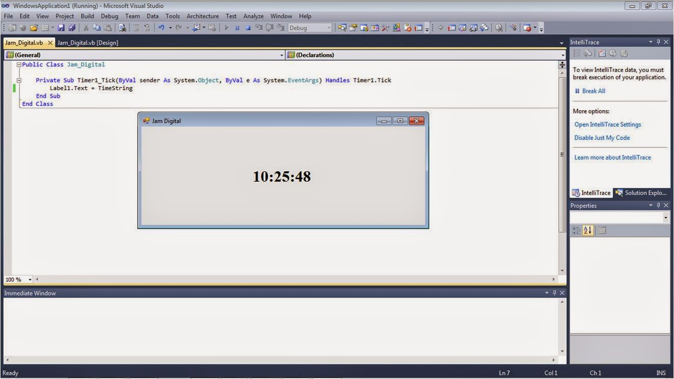 Jam Digital Visual Basic