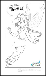 tinkerbell and friends fawn coloring pages