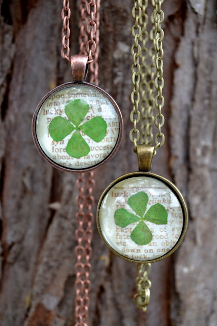 *Rook No. 17: recipes, crafts & whimsies for spreading joy*: St. Patrick's Day Craft: Lucky Clover Pendant Necklace
