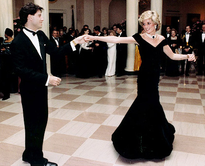 princess diana dress tour. Princess Diana dances with