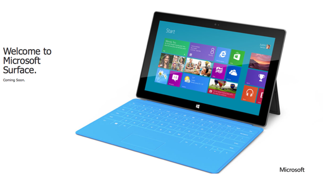 Surface tablet commercial