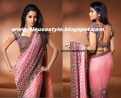 dark pink boutique saree