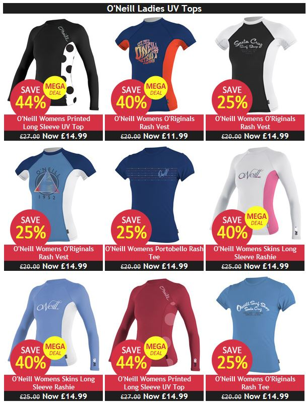 Cheap Ladies UV Tops