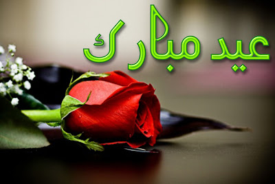 Eid Ul Adha Zuha Mubarak Rose Flowers Wallpapers Greeting Cards 2012 in Urdu 025