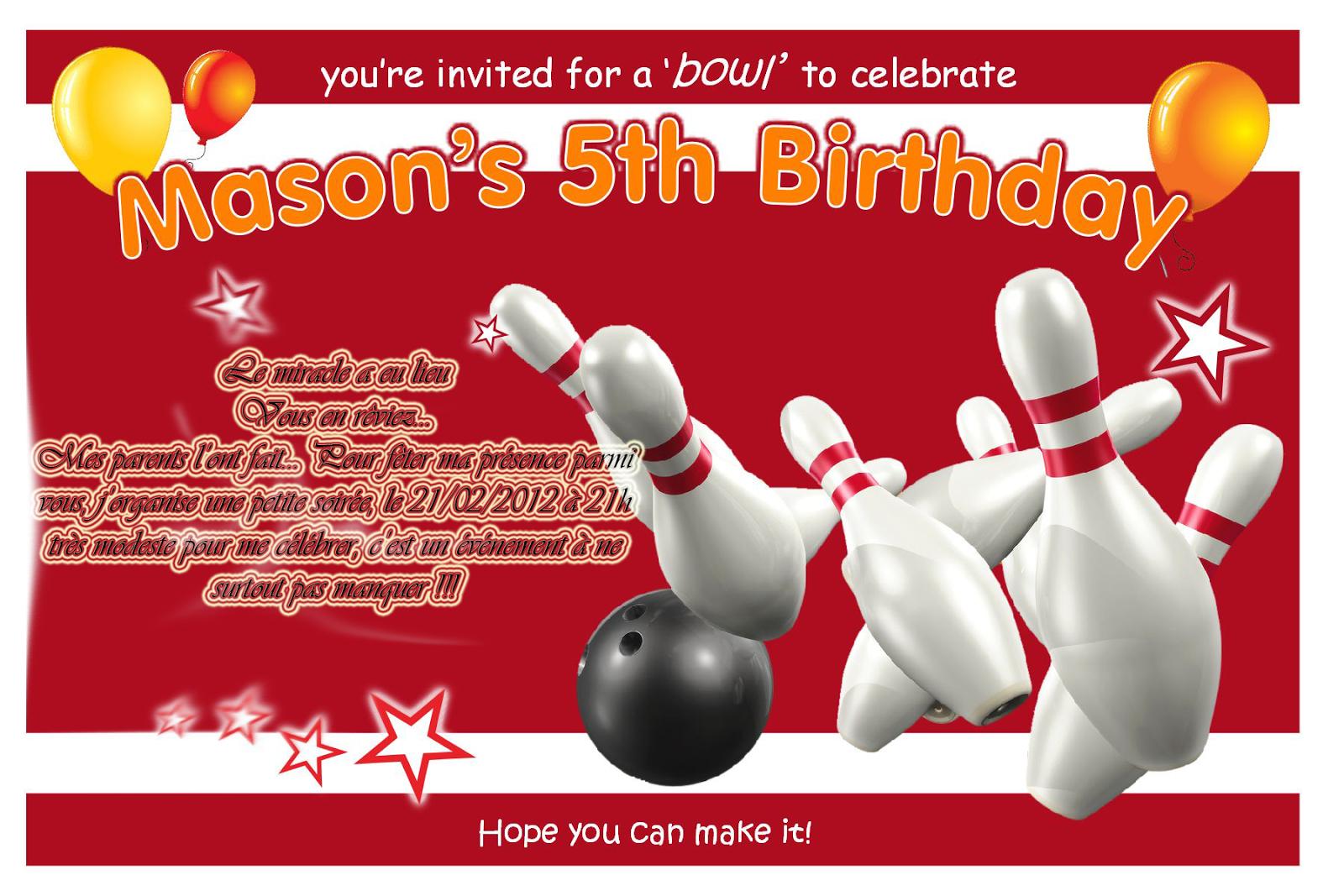 Bekannt Carte d'anniversaire bowling a imprimer - Carte Anniversaire  AC32