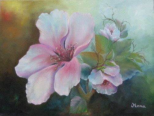 Non solo country painting corsi di pittura ad olio con l for Dipinti ad olio fiori