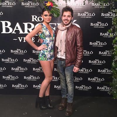 El presentador Rubén Lagarejo en la fiesta de Ron Barceló de Madrid
