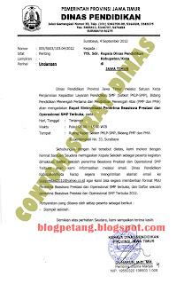 contoh surat dinas resmi