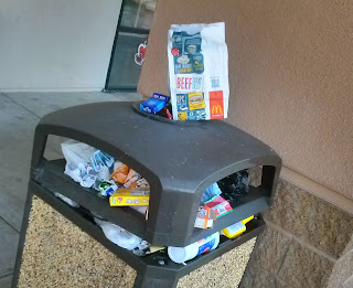 Outdoor Trash Cans are Hit and Miss at Elk Grove Fast Food Joints