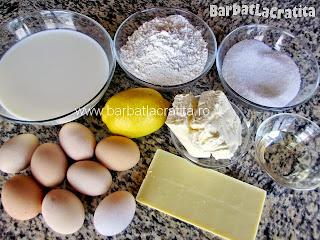Prajitura cu lamaie ingredientele retetei