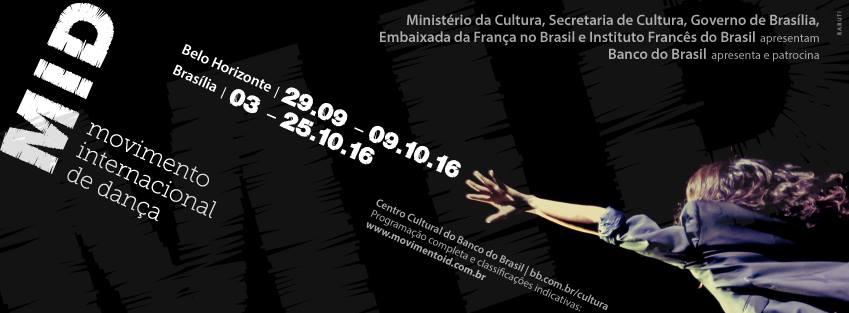 Em outubro participamos do MID - Movimento Internacional da Dança em Brasília