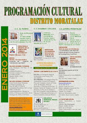 Programación cultural del Distrito de Moratalaz. Enero de 2014.