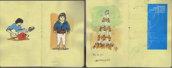 Le plus petit, c'est lui qui monte en dernier, tout en haut de la tour humaine.