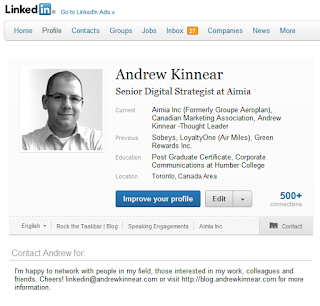 Andrew Kinnear's LinkedIn Profile