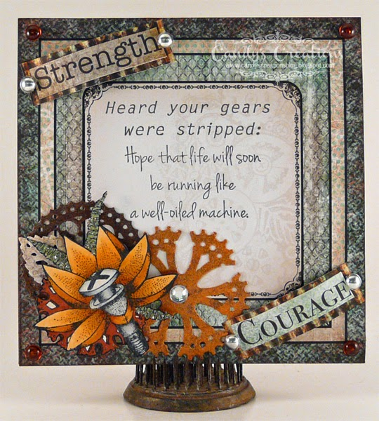 Encouragement Card, Gears, AllGearedUp, HeartfeltCreations