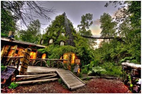 Eksterior Hotel Yang Mirip Gunung Berapi