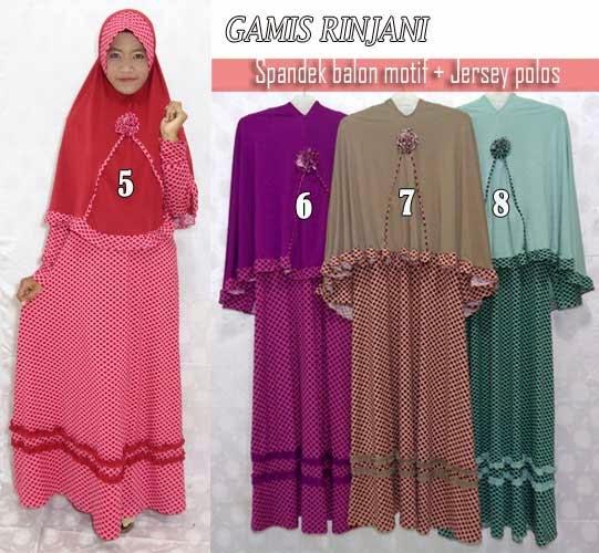 Jual gamis set jilbab bergo cantik bermotif yang murah menawan
