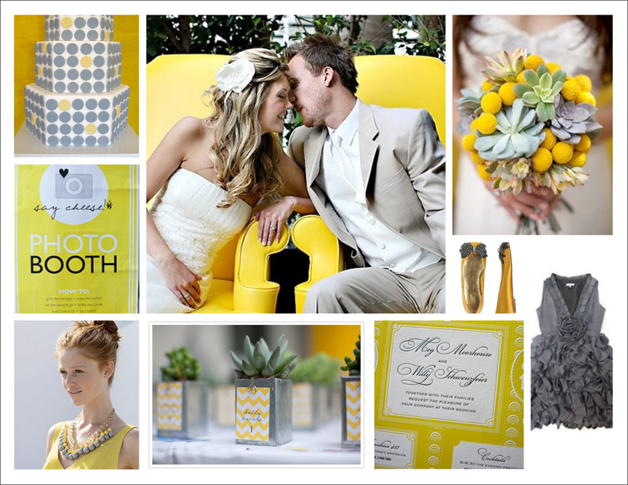 Inspiration Board Yellow Grey Weddings