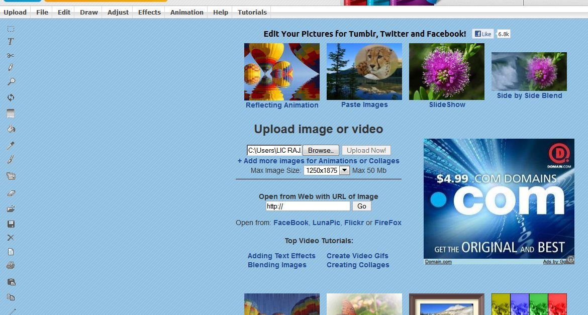 online photo editor/free direct in your browser