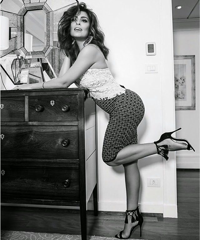 A atriz posou para revista especializada em cabelos, mas sua boa forma chamou toda a atenção