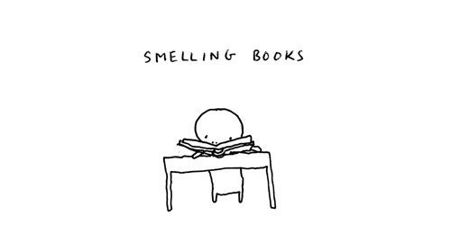 books smelling