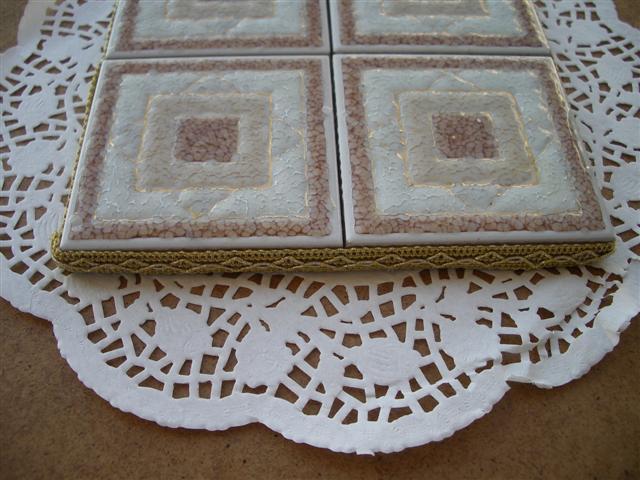 Bellezza in ricicletta: piastrelle sottopentola e pasta di sale