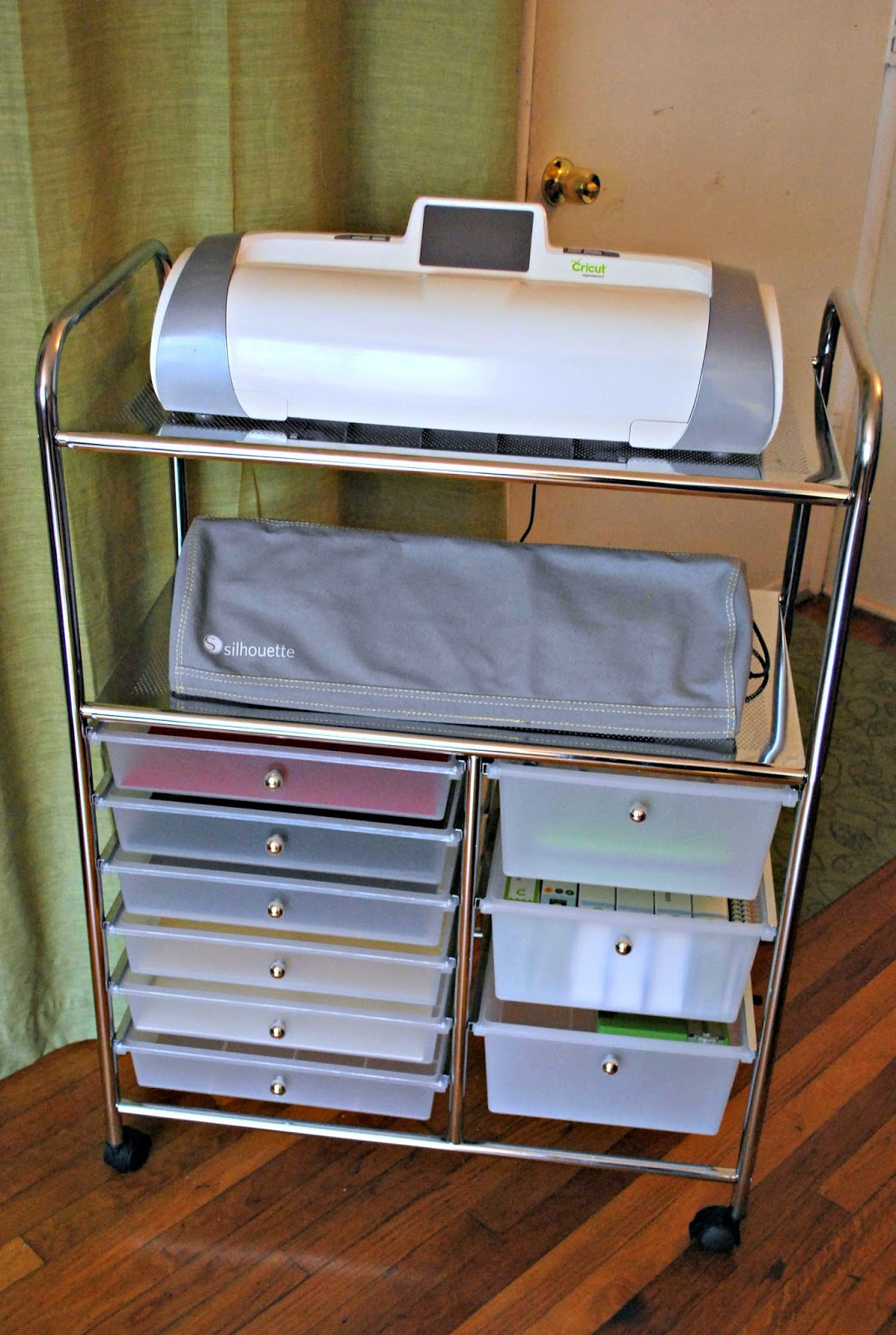 5 Drawer Mobile Work Center p 1716 additionally Gazebo Penguin 18 039 Four Season Solarium 15650574 also 204856169 in addition 401079228857 together with A Fabulous Cricut Silhouette Storage. on rolling utility cart with drawers
