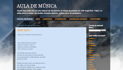 Aula de Música en Directoriopax. Blog de Educación Musical en Primaria