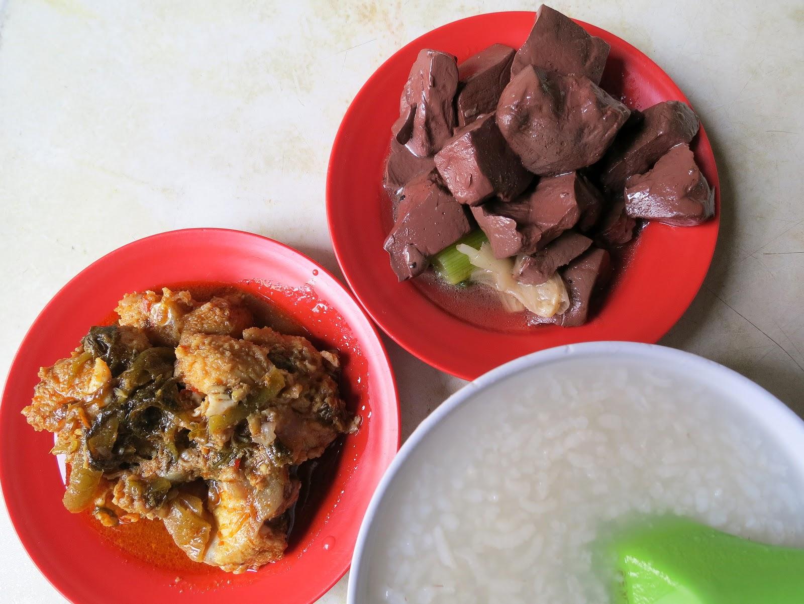 Ah kaw teochew porridge in kluang johor malaysia for Cuisine kaki