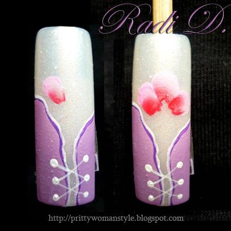 Рисуваме цвете с плоска четка и акрилна боя