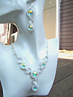 Bling & Purity - Swarovski Rivoli Necklace & Earrings