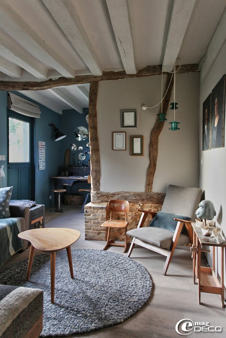 A Brittany farm house decorated in a vintage style, a report of the magazine of decoration e-magDECO