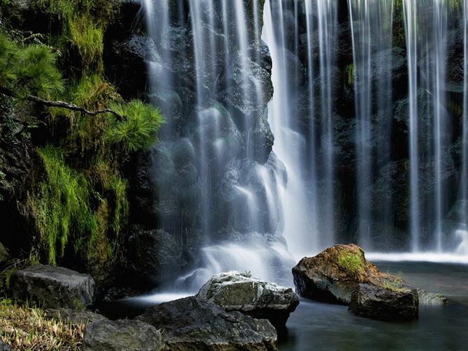 beautiful soft waterfall in - photo #39
