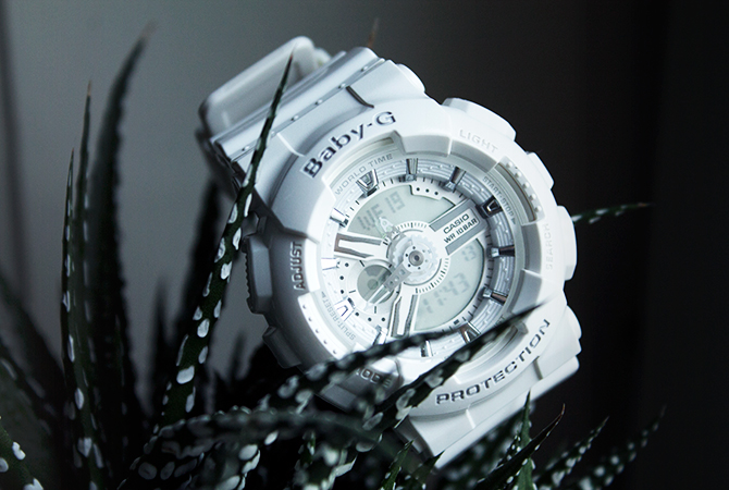 Fashion Attacks new white Baby G-Shock